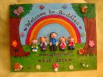 LARGE Teacher Teaching Assistant Nursery Playgroup School Classroom ANY PHRASING up to 5 Main Characters Garden Gift